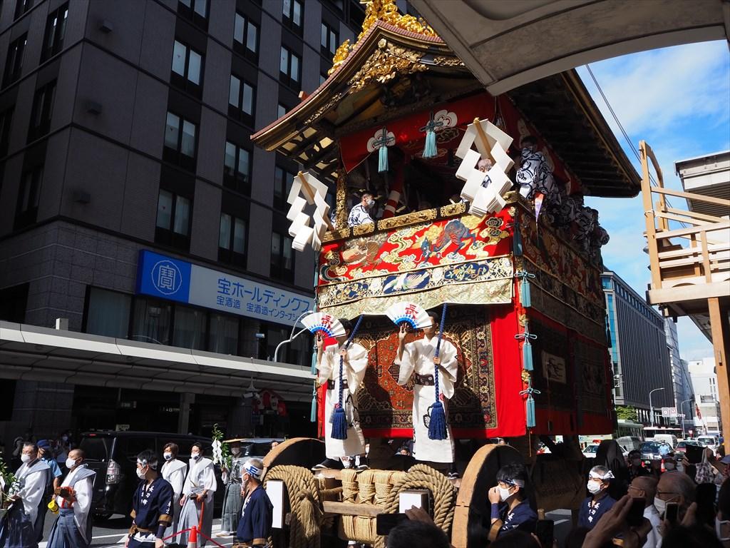 祇園祭 17日朝の山鉾