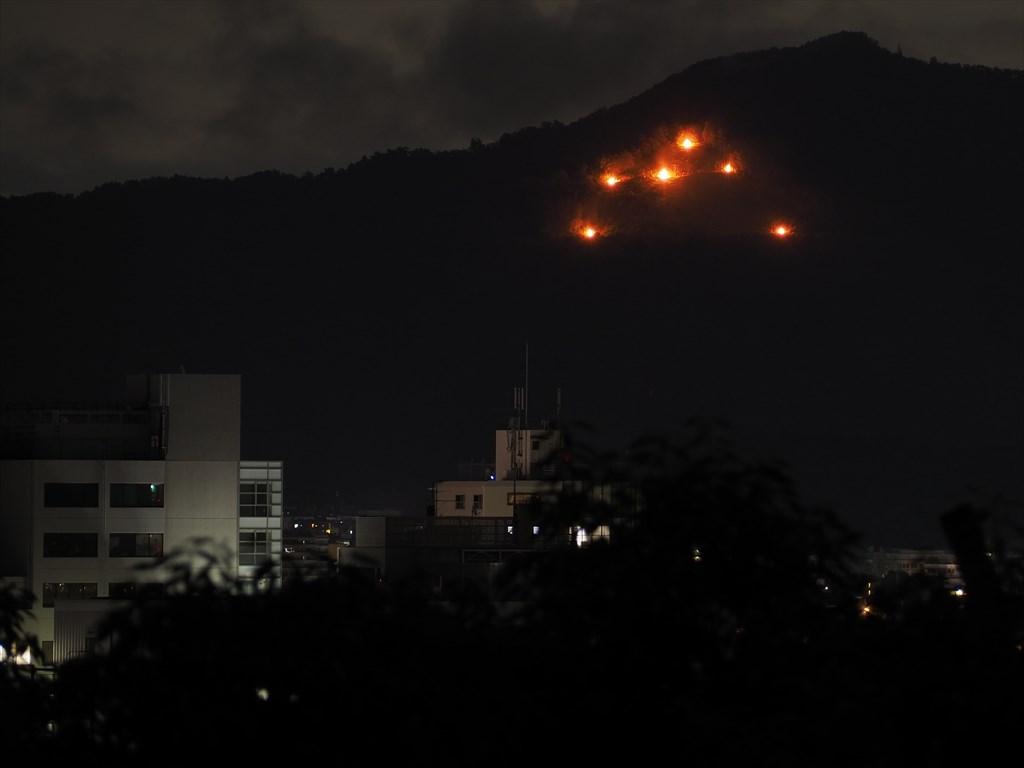 五山送り火 2021年 船岡山から