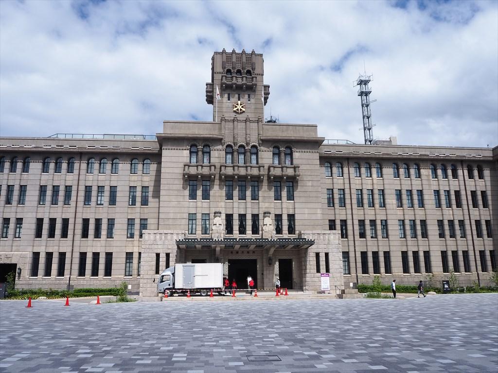 姿を現した京都市役所前広場